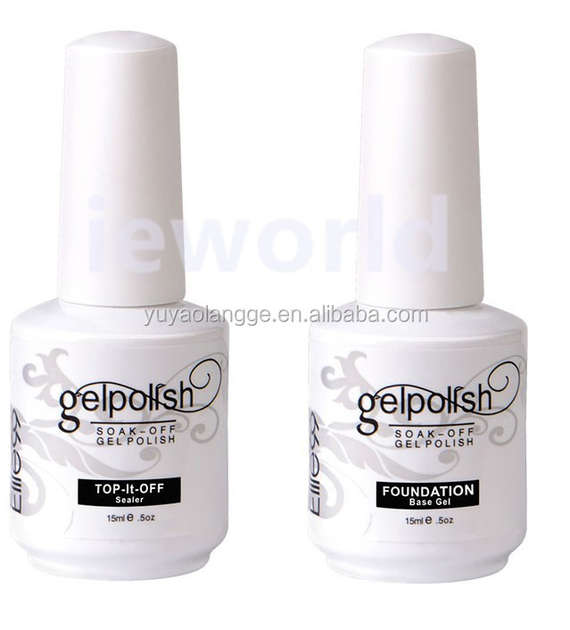 Top Coat GelPolish Base Gel Nail Art Tip Builder Acrylic Polish Set 15ml