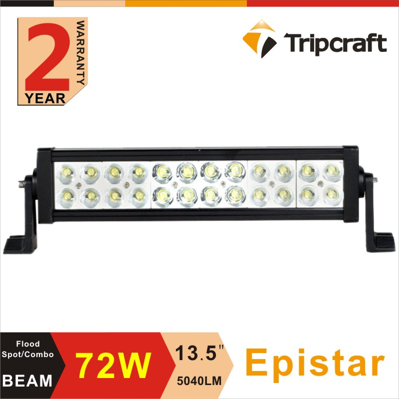 2017 high promotion 13.5 inch 72W led light bar ,5040lm cheap LED off road light with Spot Flood beam