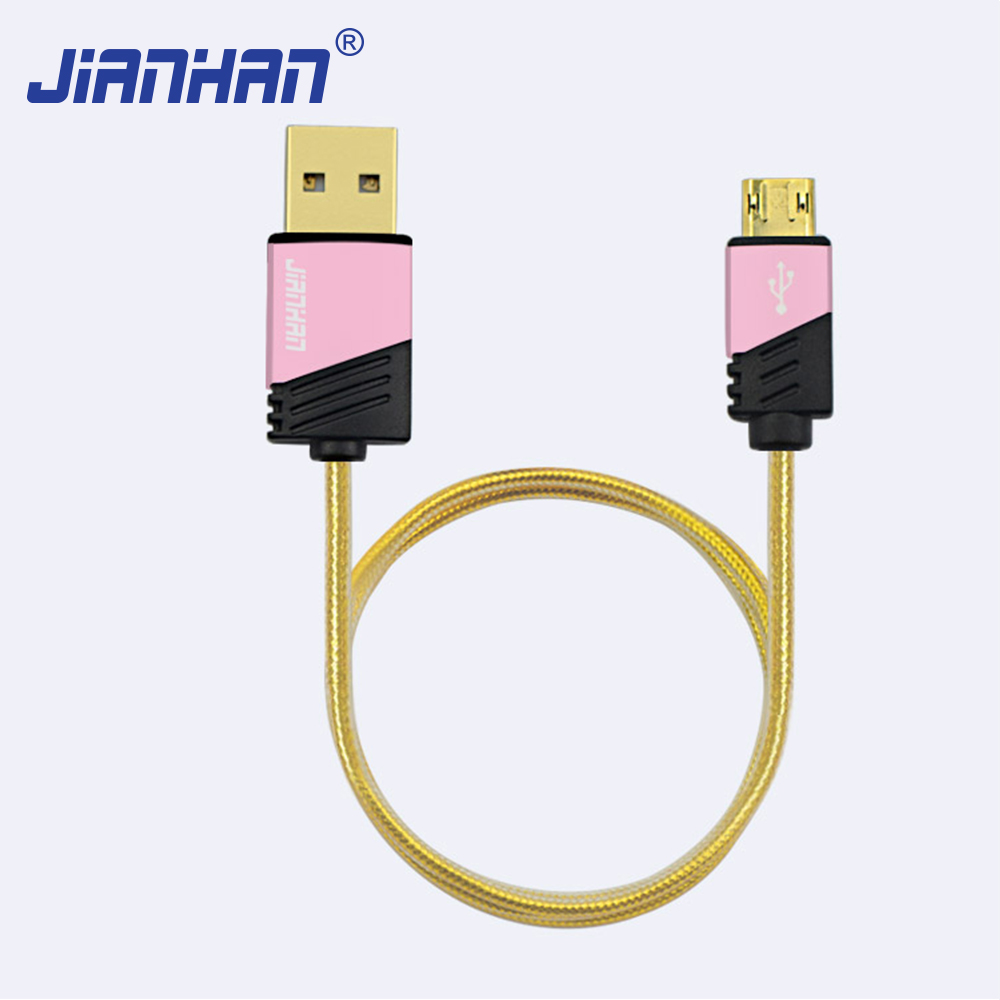 Manufacturers selling new USB to micro jelly charging cable, micro version is suitable for the android mobile phone cable