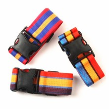 2014 Hot sale colorful striped top quality nylon luggage bag belt from yiwu factory