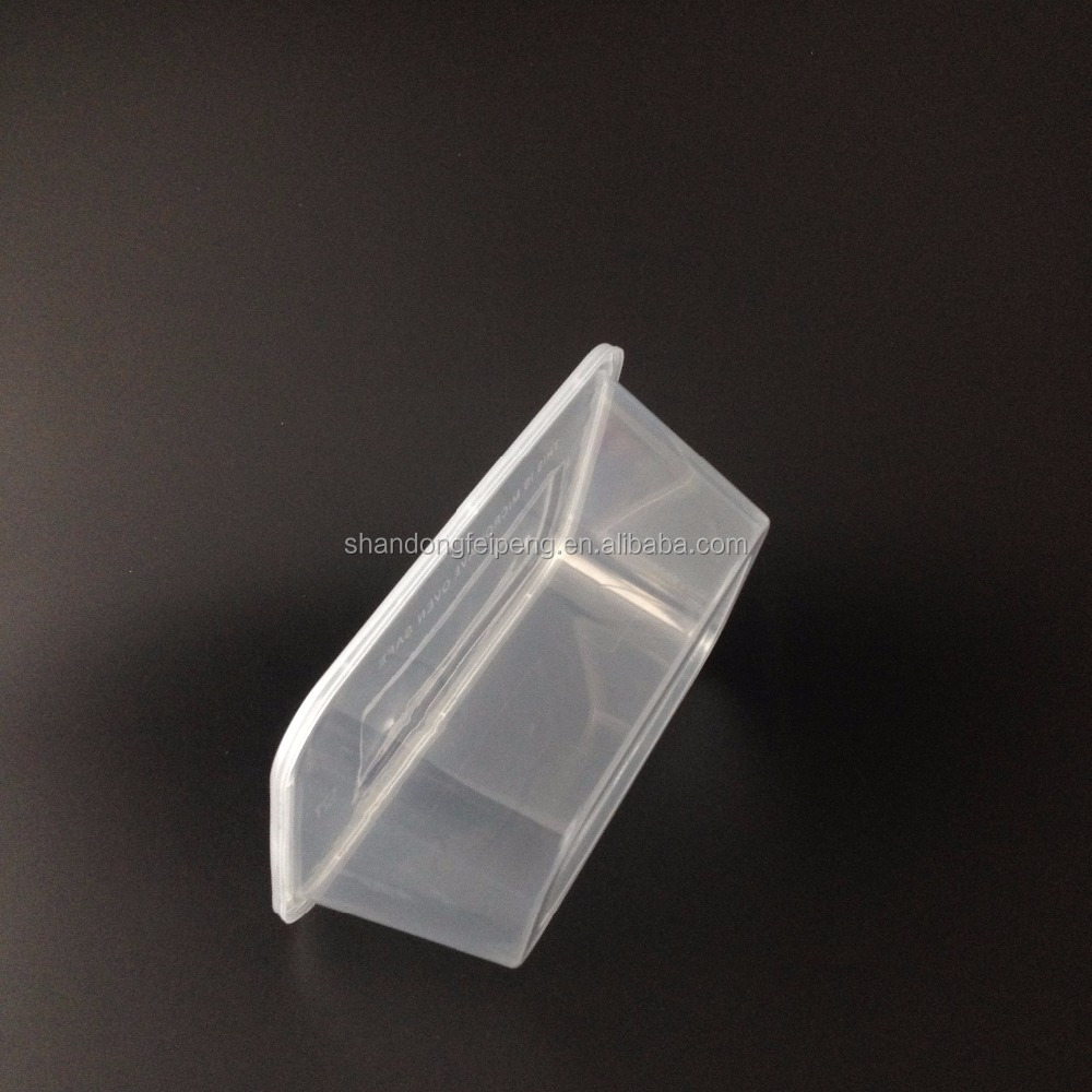 Preservation 1750ml Plastic rectangle food container shrink retailed packing
