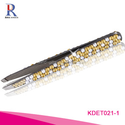 Fashion Lady Series Eyebrow Tweezers with bling bling crystal