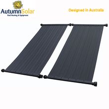 Rigid black polypropylene solar heater for swimming pool