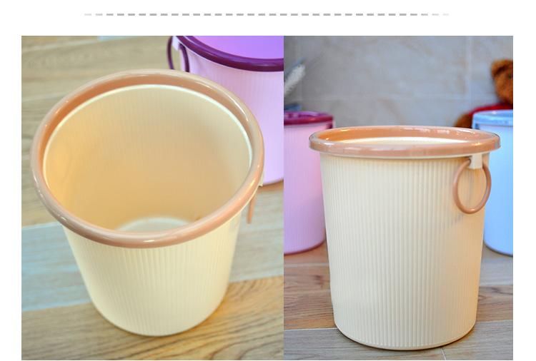 n519 indoor decorative plastic trash can stand plastic garbage can home waste basket buy trash. Black Bedroom Furniture Sets. Home Design Ideas