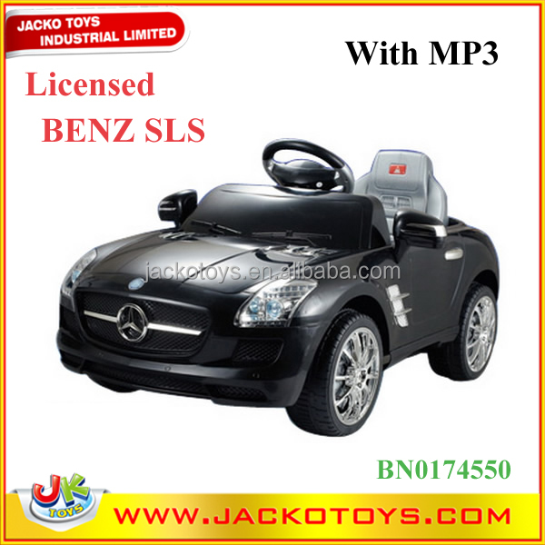 licensed brand car rc electric kids ride on car with music