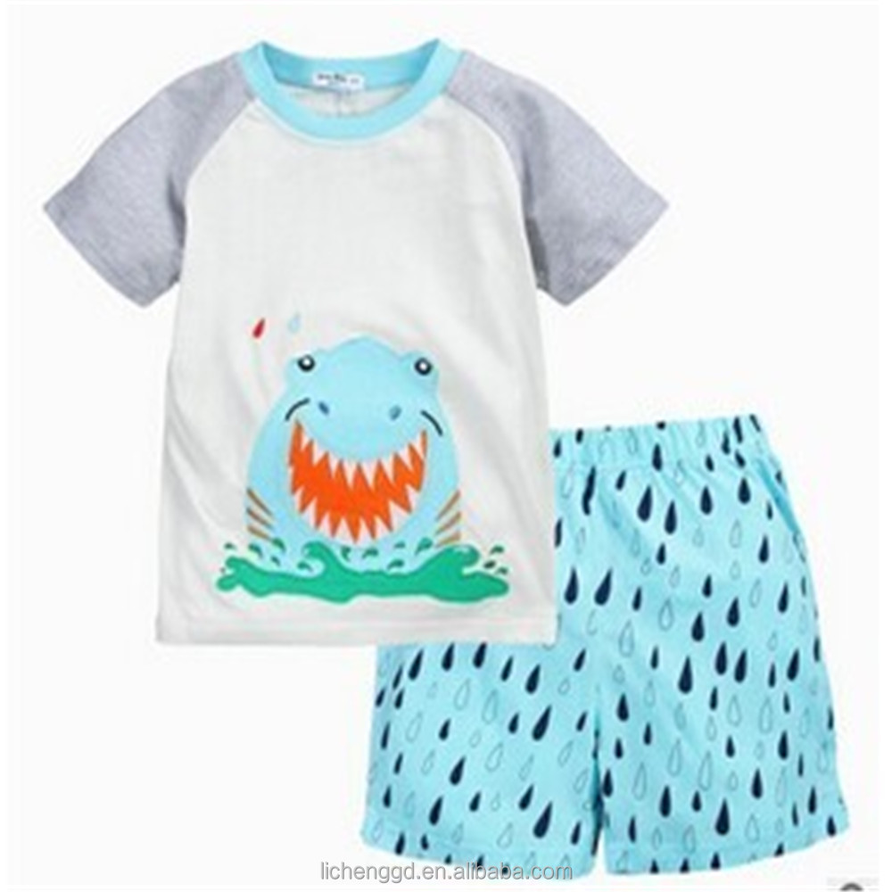 (AB5922) China factory designs baby fashion short sleeve clothes sets baby boys stylish 2 pieces design summer sets