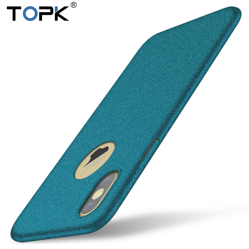 TOPK Fashion Luxury PC Anti-fingerprint Ultra-thin Plastic Matte Hard Back Cover Phone Case for iPhone X Case