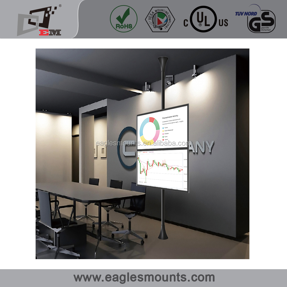 Plasma LED LCE TV rack wall mount, support vertical dual screens