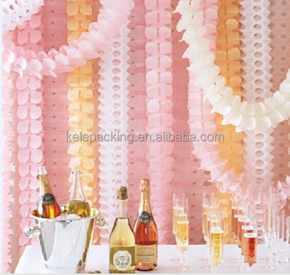 wedding marriage room decorate birthday party decoration wedding paper into store hall Clovers paper garland
