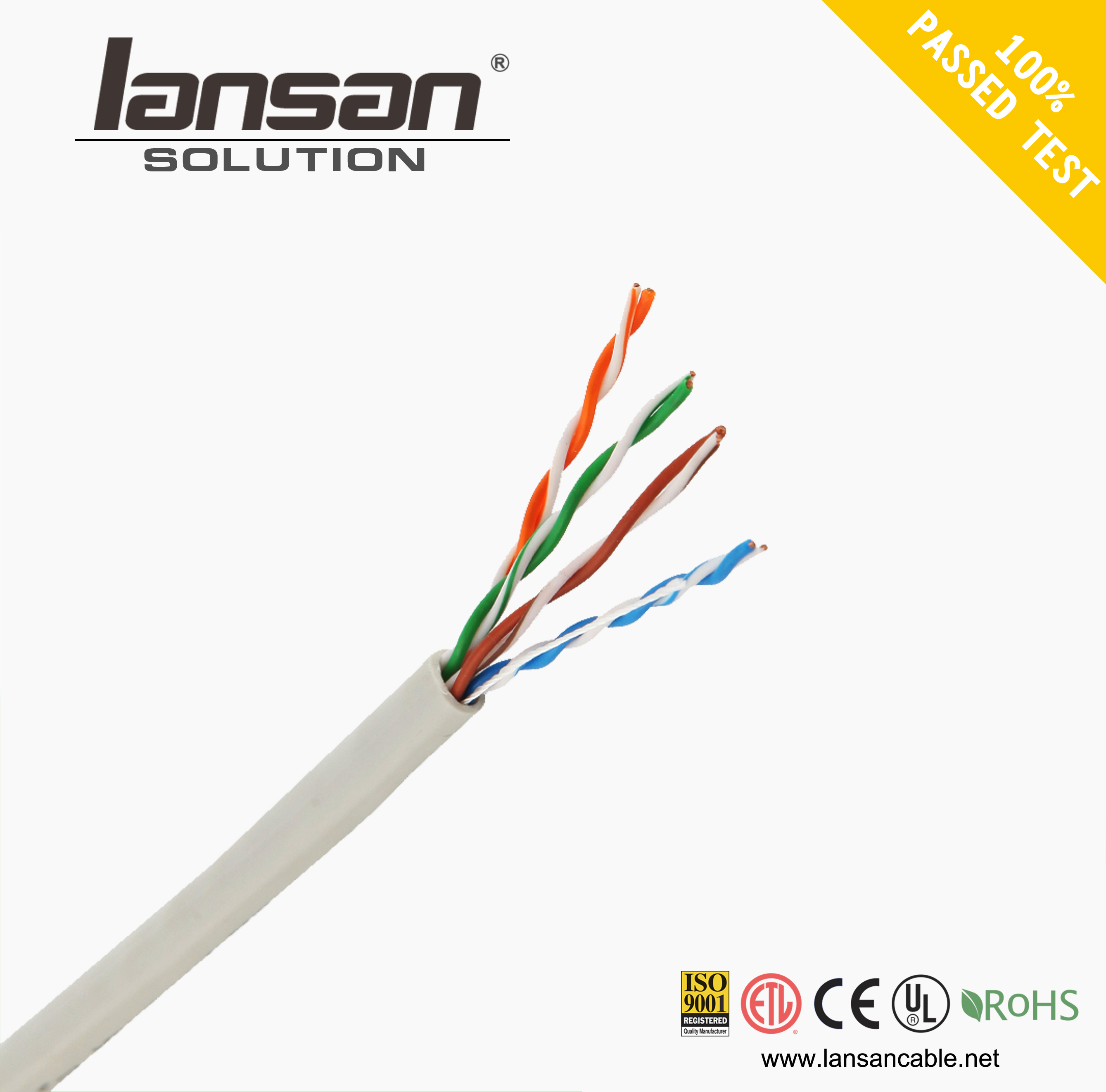 advantage product pass 90m perm link testing Utp Cat5e Lan Cable CM/CMR/CMP Plenum With UL Listed Cat 5e 0.48mm Wire cable