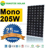 Yangtze High quality Mono 200w 205w 210w solar panel
