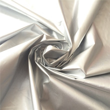 PU Silver Coated Waterproof Polyester Taffeta Fabric for Coat Down Jacket