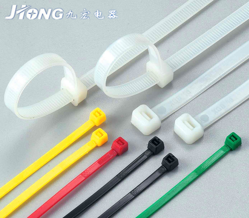 2015 factory manufacturer hot sale free sample self lock 100pcs package colorful 200pcs packing nylon cable tie wrap with CE SG
