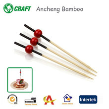wholesale dolomite party picks red ball bamboo picks