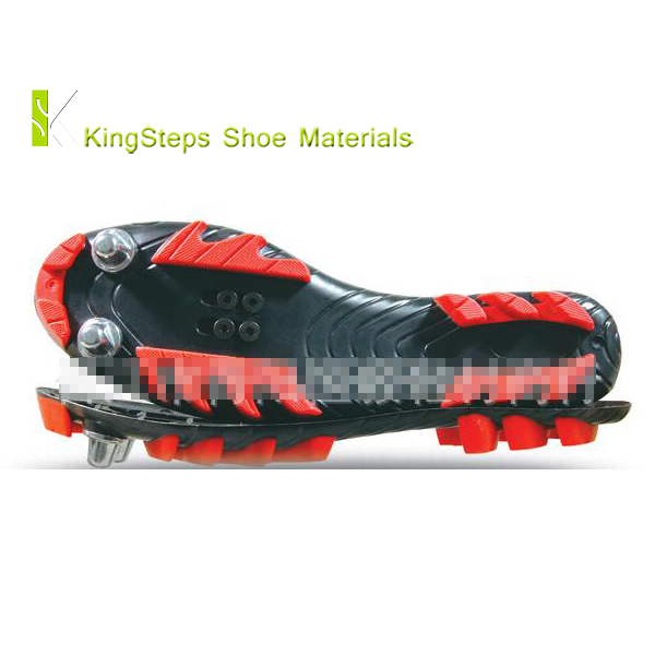 Bike shoes sole TPU material men sizes 39#-46# rubber outsole and metal nail made in Jinjiang KSHY-6222