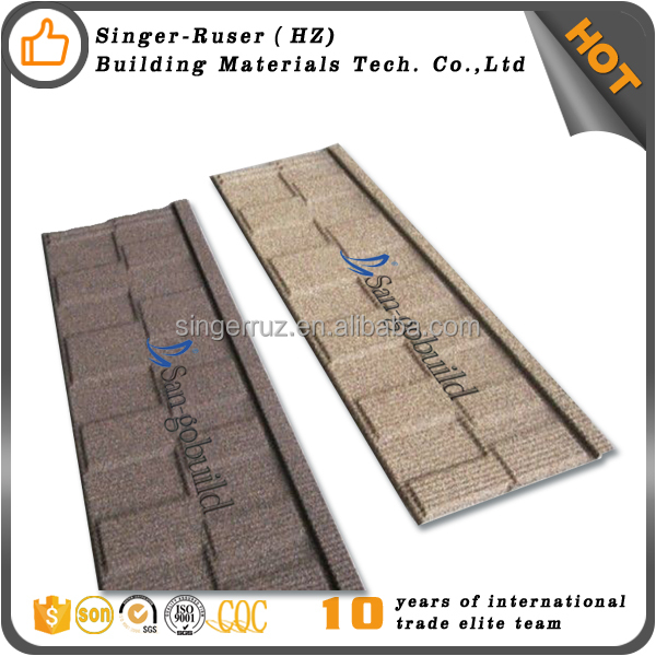 Building materials guangzhou galvanized steel sheet metal roofing price/stone coated roof tile