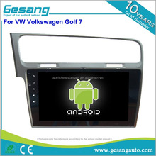 10.1 inch full touch screen car radio android 6.0 car dvd player with reverse camera for VW Volkswagen Golf 7
