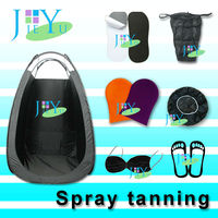 sticky feet spray tanning machine gun hvlp tent applicator mitt tanning tent