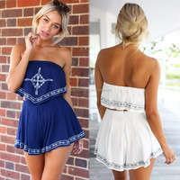 girl women sexy jumpsuit playsuit off shoulder party dress summer beach wear for women clothing