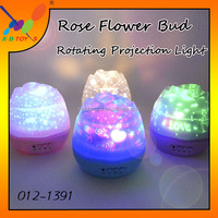 New! Creative Moon and Star Projection Picture Manufacturer wholesale LED Night Lamp Rose Flower Bud Rotating Projection Light