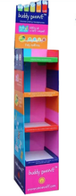 Cute glass shoe rack display hat display rack for retail store