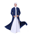 2017 latest new modle asia women front open abaya for indonesia
