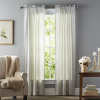 Ready made luxury curtains curtain drapes printing black out eyelet