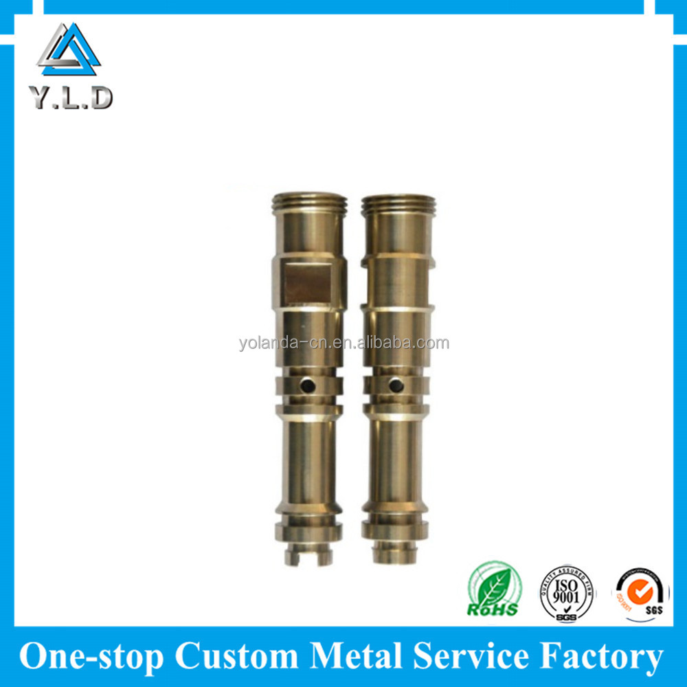 Professional Precision Metal Components Customized CNC Turning Brass Shafts