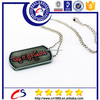 China supplier embossed logo custom couple military dog tag