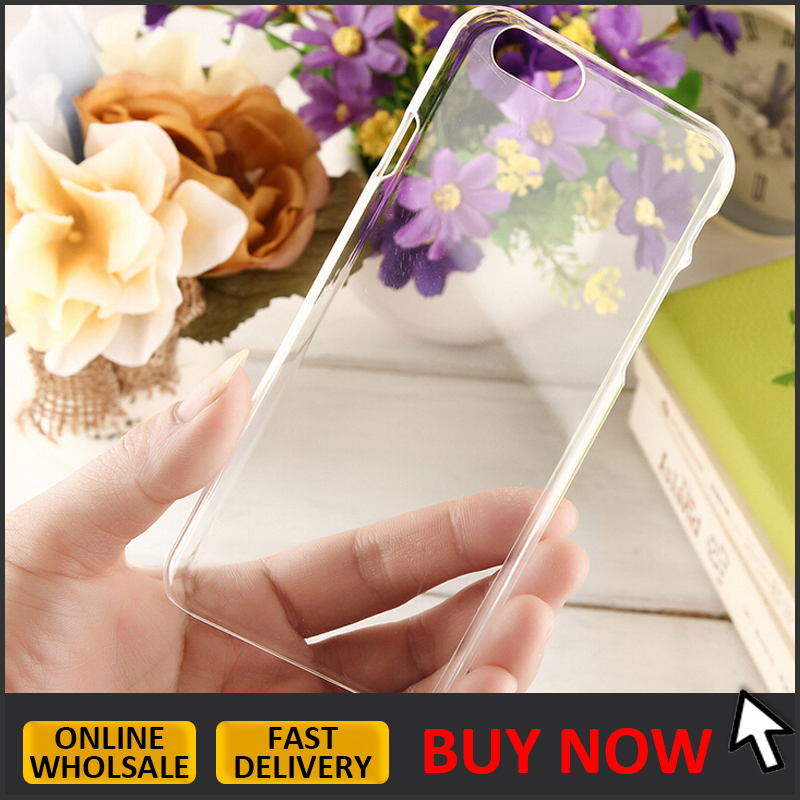 IN STOCK // sublimation transparent blank PC case for iphone 6 6s hard clear plastic back phone case