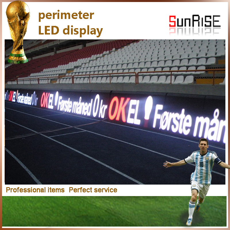 led video wall P16mm Electronic Sport advertising perimeter led display for Sports special used
