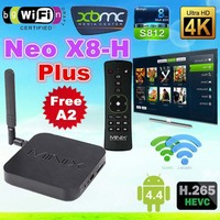 MINIX NEO X8H Plus x8-h x8 h hot 4K Ultra HD Android TV Box A2 air mouse KitKat 4.4 Amlogic S812