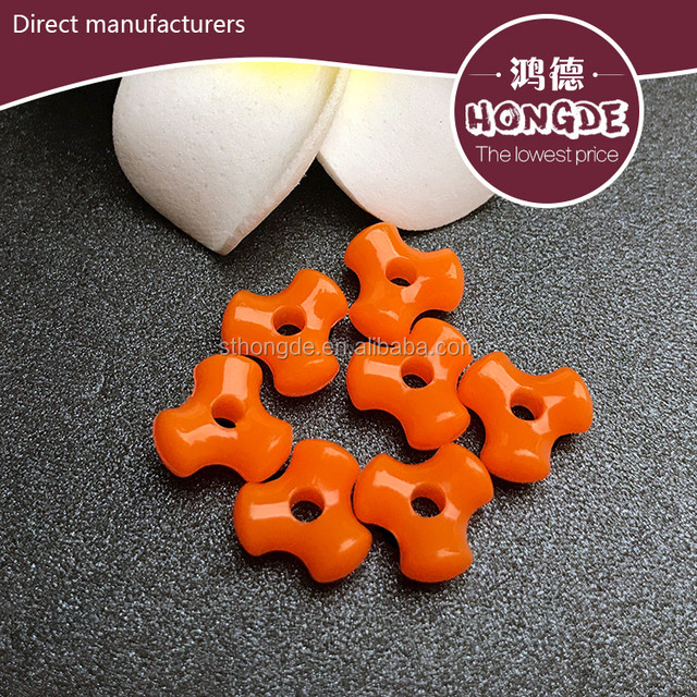 Factory wholesale fashion jewelry making Bone shape holes bead for plastic solid color Polystyrene beads
