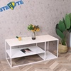 New Design Living Room Metal Center Coffee Table Tea Table With Shelves