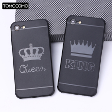 TOMOCOMO Luxury Flowers Valentine KING Queen Case For iPhone5 6 6Plus 7 7Plus 8 8Plus X Silicone Soft Phone Cover Fundas