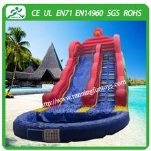 Enjoy water slide with pool, commercial inflatable water slides, giant inflatable water slide for sale