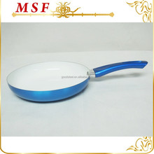 metallic paint exterior aluminum cook pan with ceramics coated inside