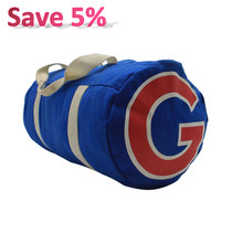 "High Qualtity 18"" Blue Custom Sport Bag Two Way Zipper Duffle Bags Eco-Friendly Durable Canvas Travel Duffel Bag for Men Women"