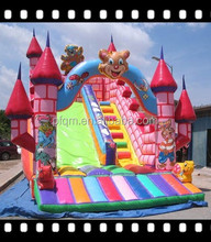 Colorful dream princess inflatable slide price for party rent business/kids fun games