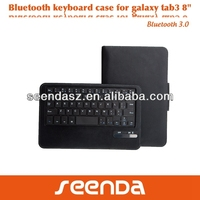 PU leather keyboard case for samsung TAB3 8.0 tablet pc cover