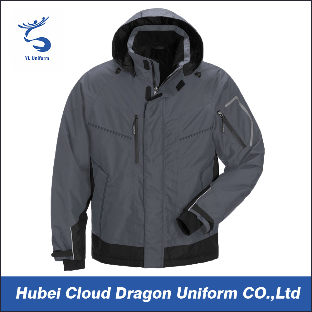 Wholesale customized grey warm tactical windbreaker jacket men