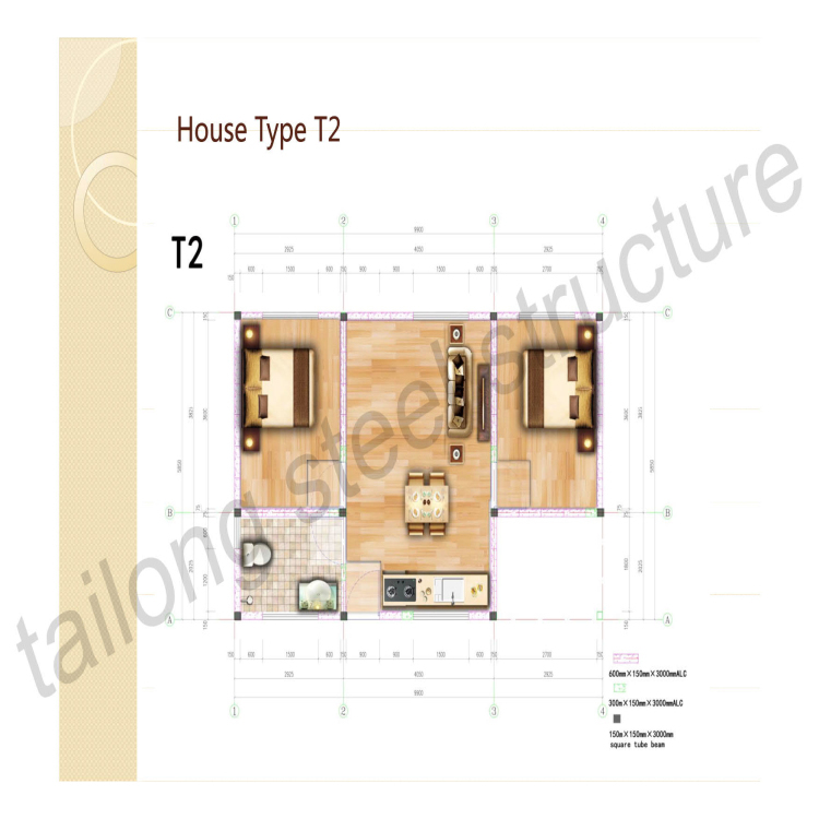 Easy assembly Steel Frame Structural Prefab House For Sale