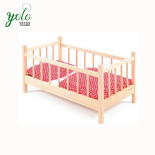 Wooden Bamboo Baby Bed With Role Play Pretend Family