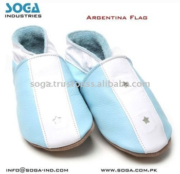 Argentina fashion country flag baby shoes .