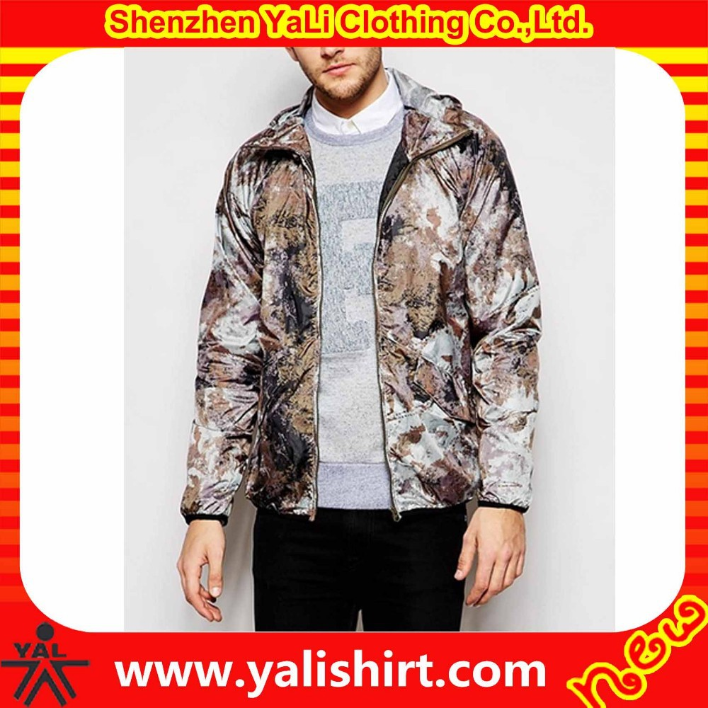2015 high quality hunting design mix size cheap camo print wholesale satin baseball jackets