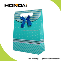 Luxury small size paper gift packaging bag