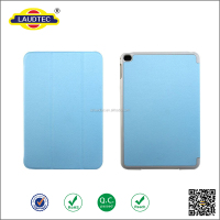 Standing function leather and hard back case & trifold leather cover for ipad mini
