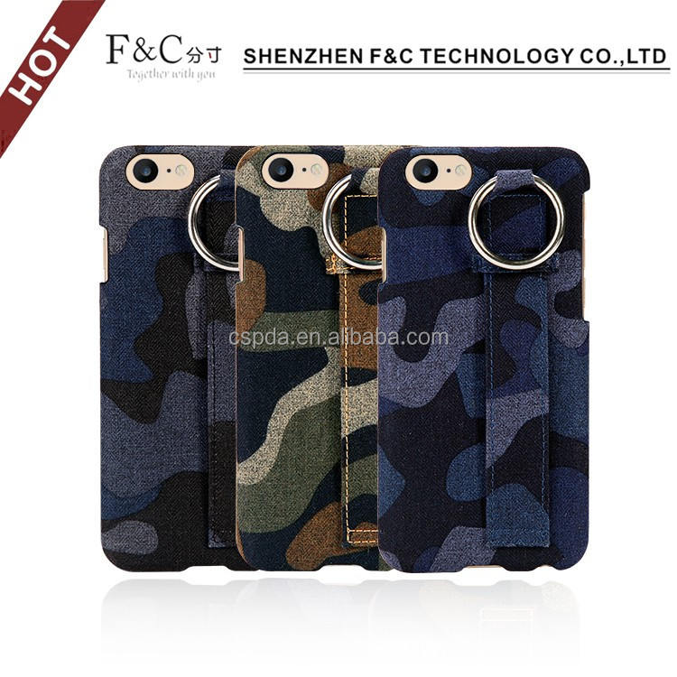 2016 fast sell premium hand-crafted camouflage pattern back stand cell phone display case for iphone 7