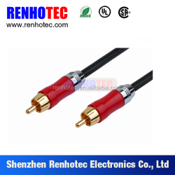 High end multimedia application audio cable RCA