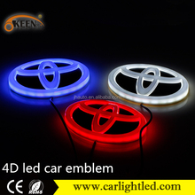 Wholesale Price 4D Led Logo Bulb Custom Car Emblem Badge Logo for Toyota